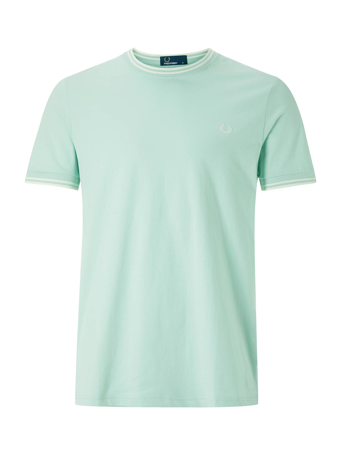 BuyFred Perry Twin Tipped T-Shirt, Mint, S Online at johnlewis.com