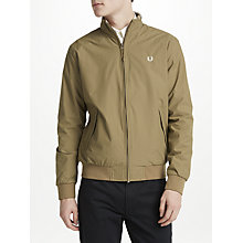 Buy Fred Perry Insulated Hooded Brentham Jacket, Bronze Online at johnlewis.com