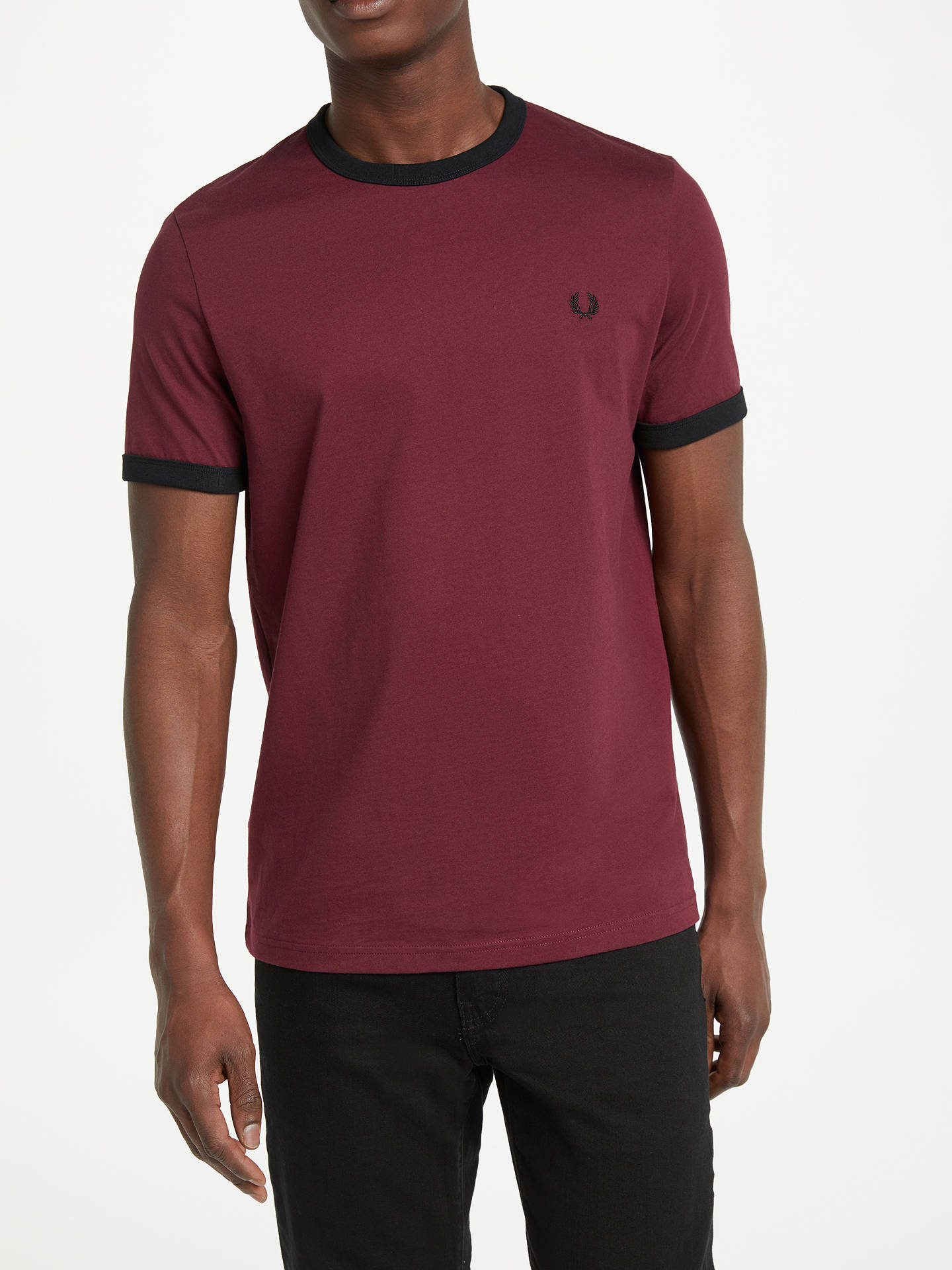 ac706ffd Buy Fred Perry Ringer Crew Neck T-Shirt, Port, S Online at johnlewis ...
