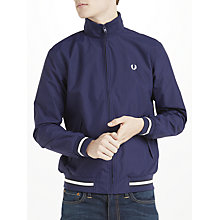 Buy Fred Perry Funnel Neck Brentham Jacket, French Navy Online at johnlewis.com