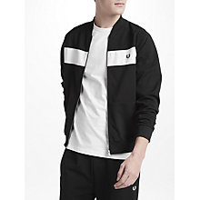Buy Fred Perry Sports Amplified Reverse Tricot Track Jacket, Black Online at johnlewis.com