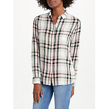 Buy Lee One Pocket Check Shirt, Faded Pink Online at johnlewis.com