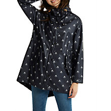 Buy Joules Right as Rain Mistral Printed Waterproof Parka, Navy Bee Online at johnlewis.com