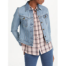 Buy Lee Slim Rider Denim Jacket, Super Stonewash Online at johnlewis.com