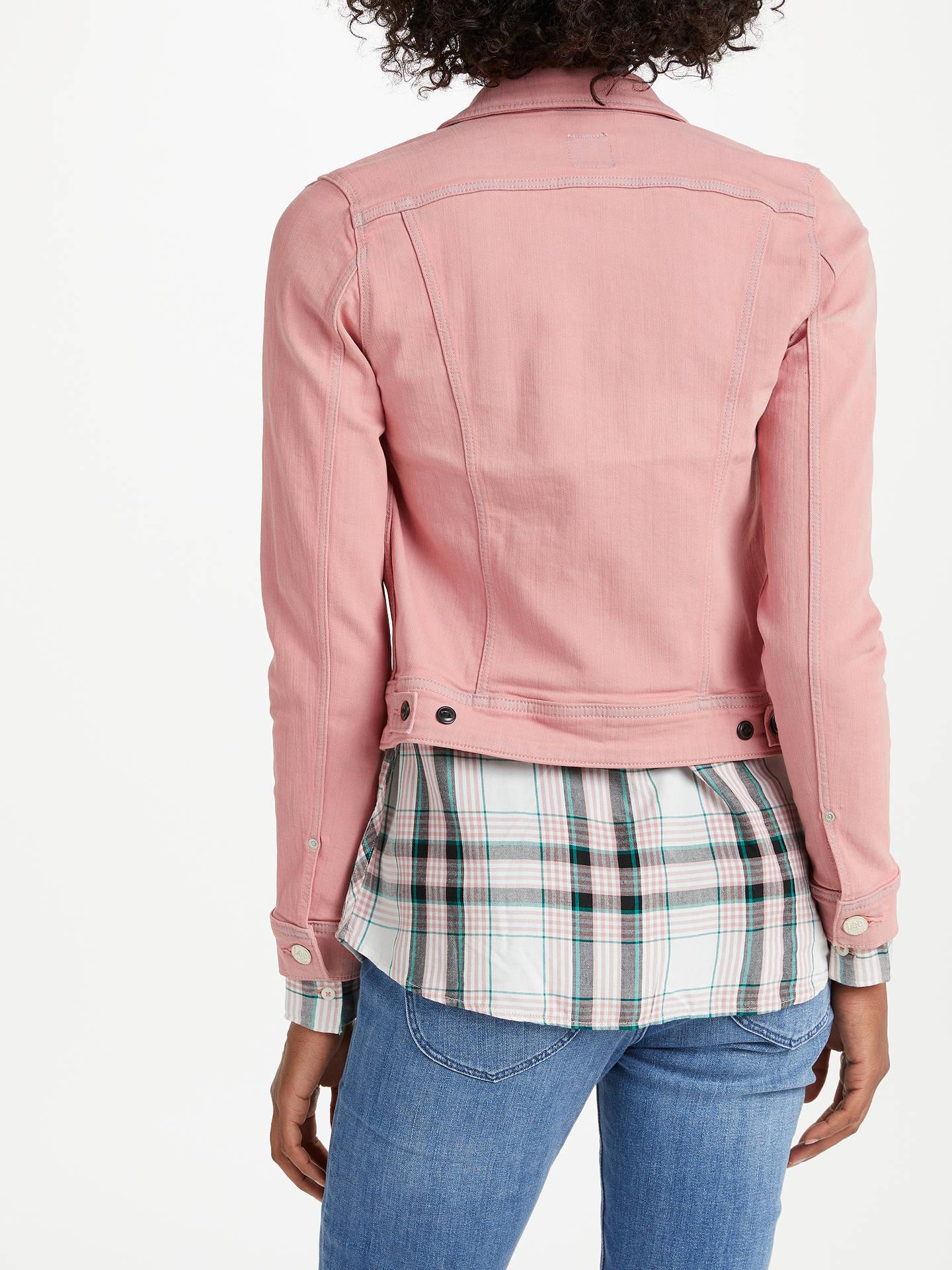 Lee Slim Rider Denim Jacket, Pastel Pink at John Lewis & Partners