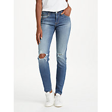 Buy Lee Scarlett Regular Waist Skinny Jeans, Slam Damage Online at johnlewis.com