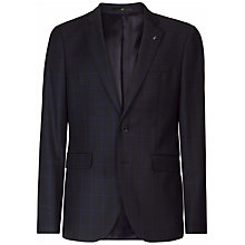 Buy Jaeger Wool Birdseye Windowpane Check Suit Jacket, Navy Online at johnlewis.com