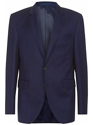 Jaeger Wool Flannel Regular Fit Suit Jacket, Navy