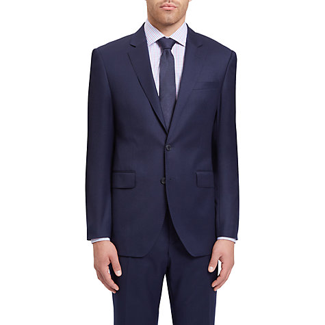 Buy Jaeger Wool Flannel Regular Fit Suit Jacket, Navy Online at johnlewis.com