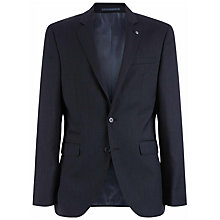 Buy Jaeger Wool Fine Pick Weave Slim Fit Suit Jacket, Charcoal Online at johnlewis.com