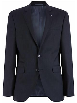 Jaeger Wool Fine Pick Weave Slim Fit Suit Jacket, Charcoal