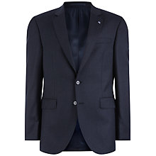Buy Jaeger Wool Flannel Regular Fit Suit Jacket, Charcoal Online at johnlewis.com