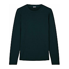 Buy Jaeger Heavy Jersey Long Sleeve T-Shirt, Forest Green Online at johnlewis.com