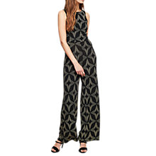 Buy Miss Selfridge Diamond Glitter Jumpsuit, Multi Online at johnlewis.com