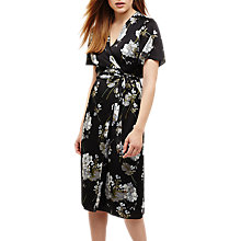 Buy Phase Eight Tasha Floral Print Wrap Dress, Black/Multi Online at johnlewis.com
