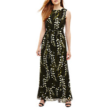 Buy Phase Eight Valencia Floral Print Maxi Dress, Black Online at johnlewis.com
