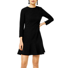 Buy Warehouse Peplum Hem Dress, Black Online at johnlewis.com