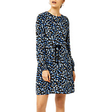 Buy Warehouse Mini Marigold Dress, Blue Pattern Online at johnlewis.com