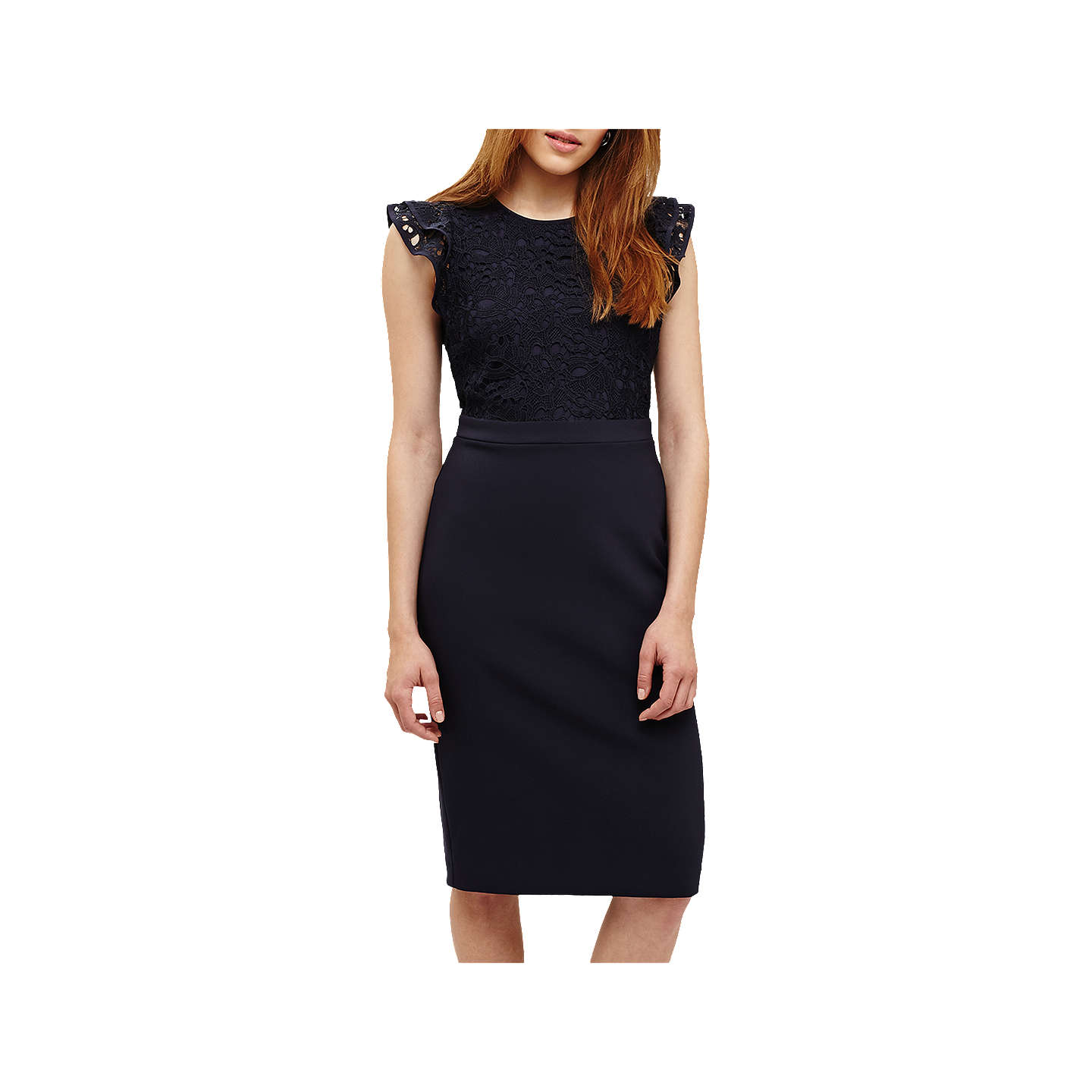 BuyPhase Eight Peggy Lace Dress, Navy, 20 Online at johnlewis.com