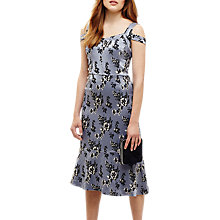Buy Phase Eight Persephone Shoulder Detail Dress, Cornflower Blue Online at johnlewis.com