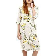 Buy Phase Eight Sandrine Floral Print Tie Dress, Cream Buttermilk Online at johnlewis.com