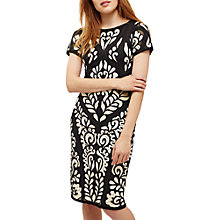 Buy Phase Eight Sanna Tapework Dress, Cream Oyster/Navy Online at johnlewis.com