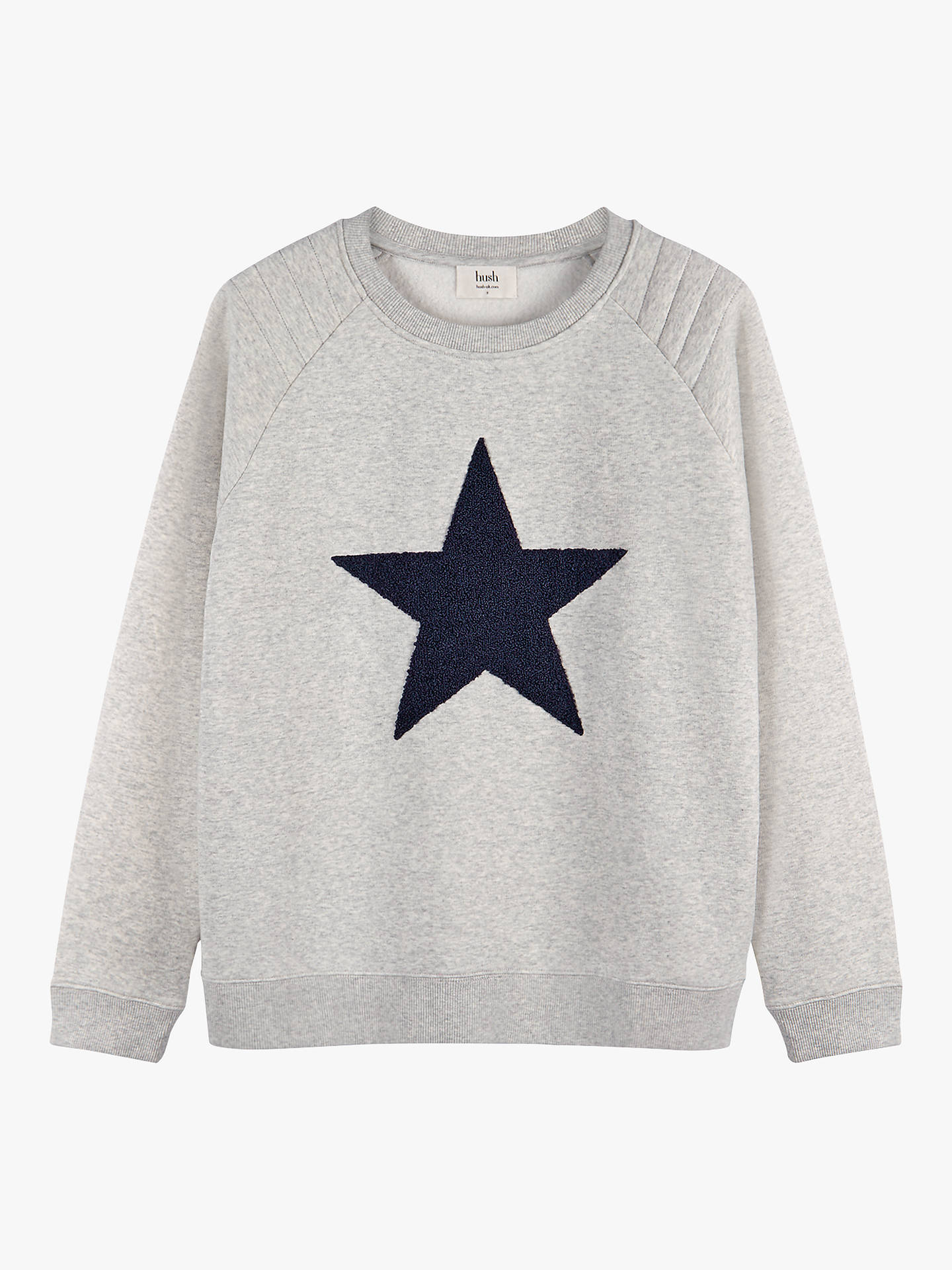 Buyhush Star Biker Sweat Top, Lightest Grey Marl/Midnight, XS Online at johnlewis.com
