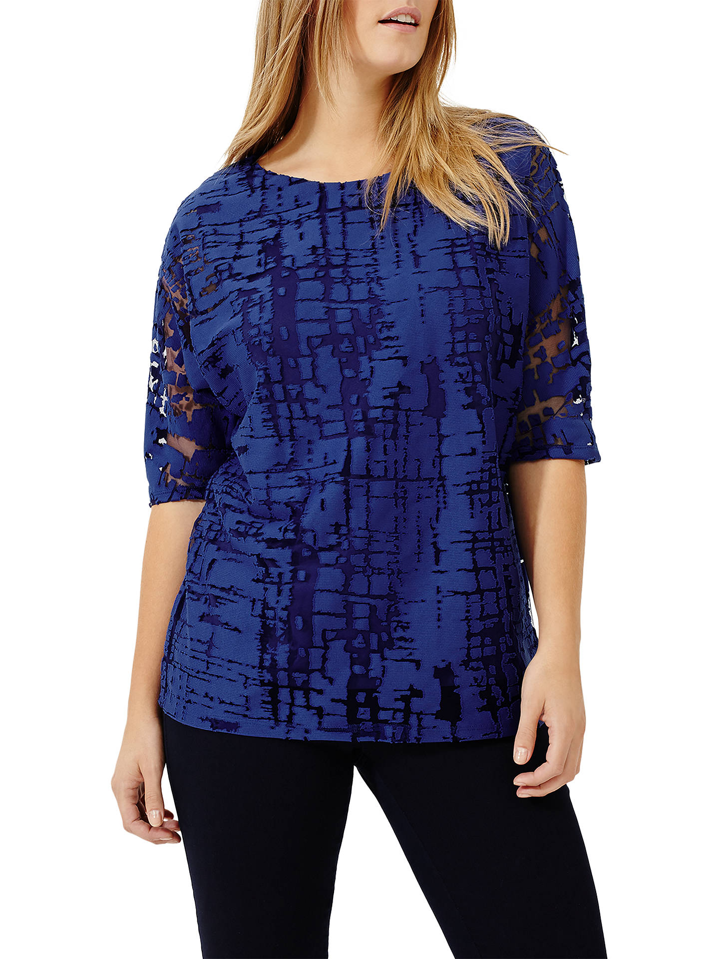 BuyStudio 8 Lucy Burnout Top, Cobalt, 12 Online at johnlewis.com