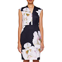 Buy Ted Baker Rhian Majestic Dress, Dark Blue Online at johnlewis.com