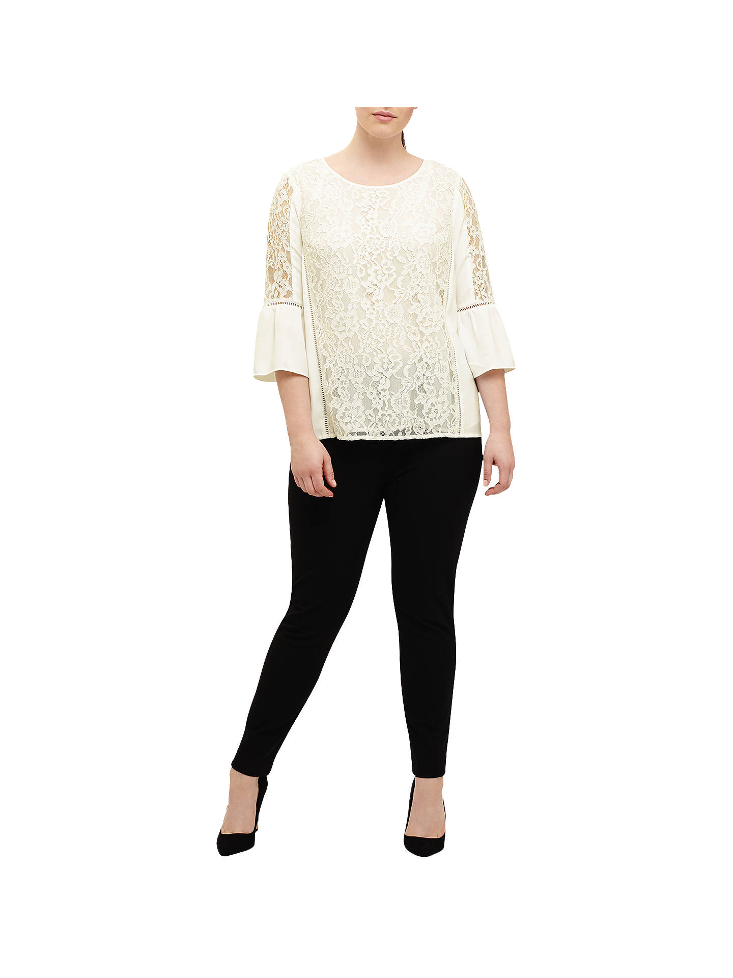 Buy Studio 8 Anna Lace Blouse, Ivory, 12 Online at johnlewis.com
