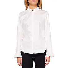 Buy Ted Baker Veritee Fluted Cuff Ric Rac Shirt, White Online at johnlewis.com