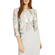 Buy Phase Eight Suki Lace Jacket, Grey Smoke Online at johnlewis.com