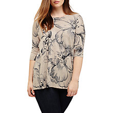 Buy Studio 8 Nadia Floral Print Jumper, Navy/Stone Online at johnlewis.com