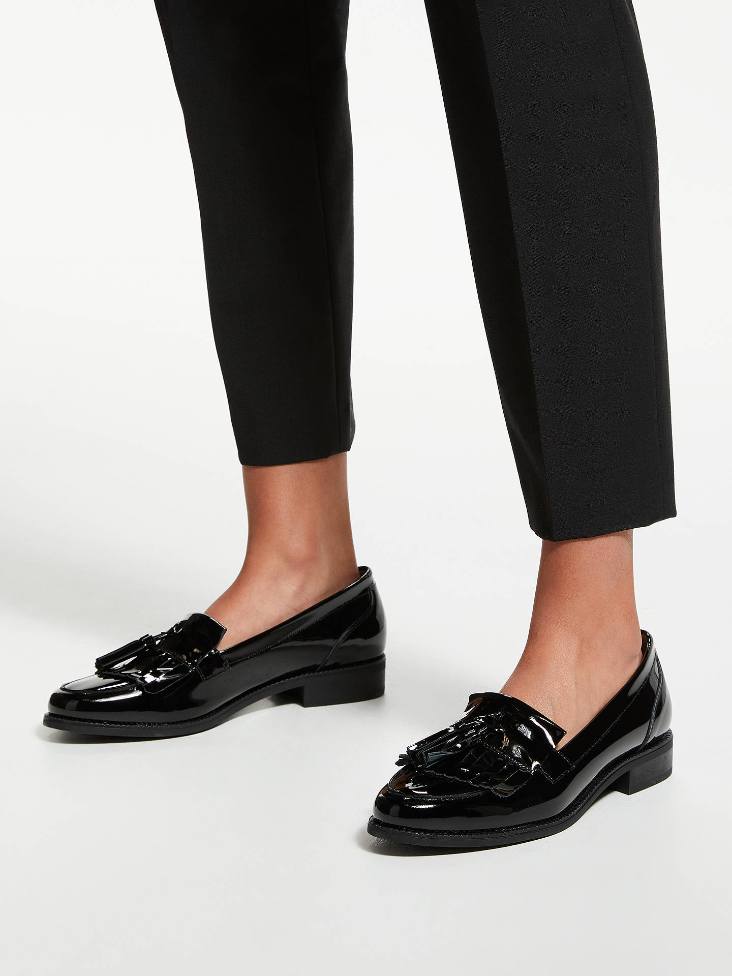 BuyJohn Lewis & Partners Gemma Loafers, Black Patent Leather, 3 Online at johnlewis.com
