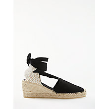 Buy John Lewis Kimberley Wedge Heel Espadrilles, Black Online at johnlewis.com