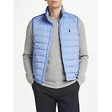 Buy Polo Ralph Lauren Down Gilet, Soft Royal Heather Online at johnlewis.com