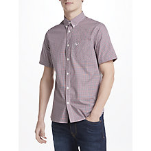 Buy Fred Perry Three Colour Gingham Short Sleeve Shirt, Dark Carbon Online at johnlewis.com