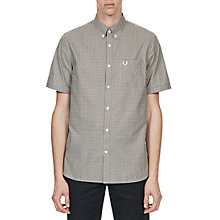 Buy Fred Perry Three Colour Gingham Shirt, Nettle Online at johnlewis.com