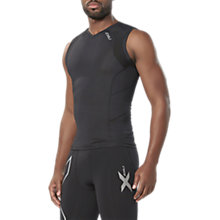 Buy 2XU Compression Sleeveless Men's Top, Black Online at johnlewis.com