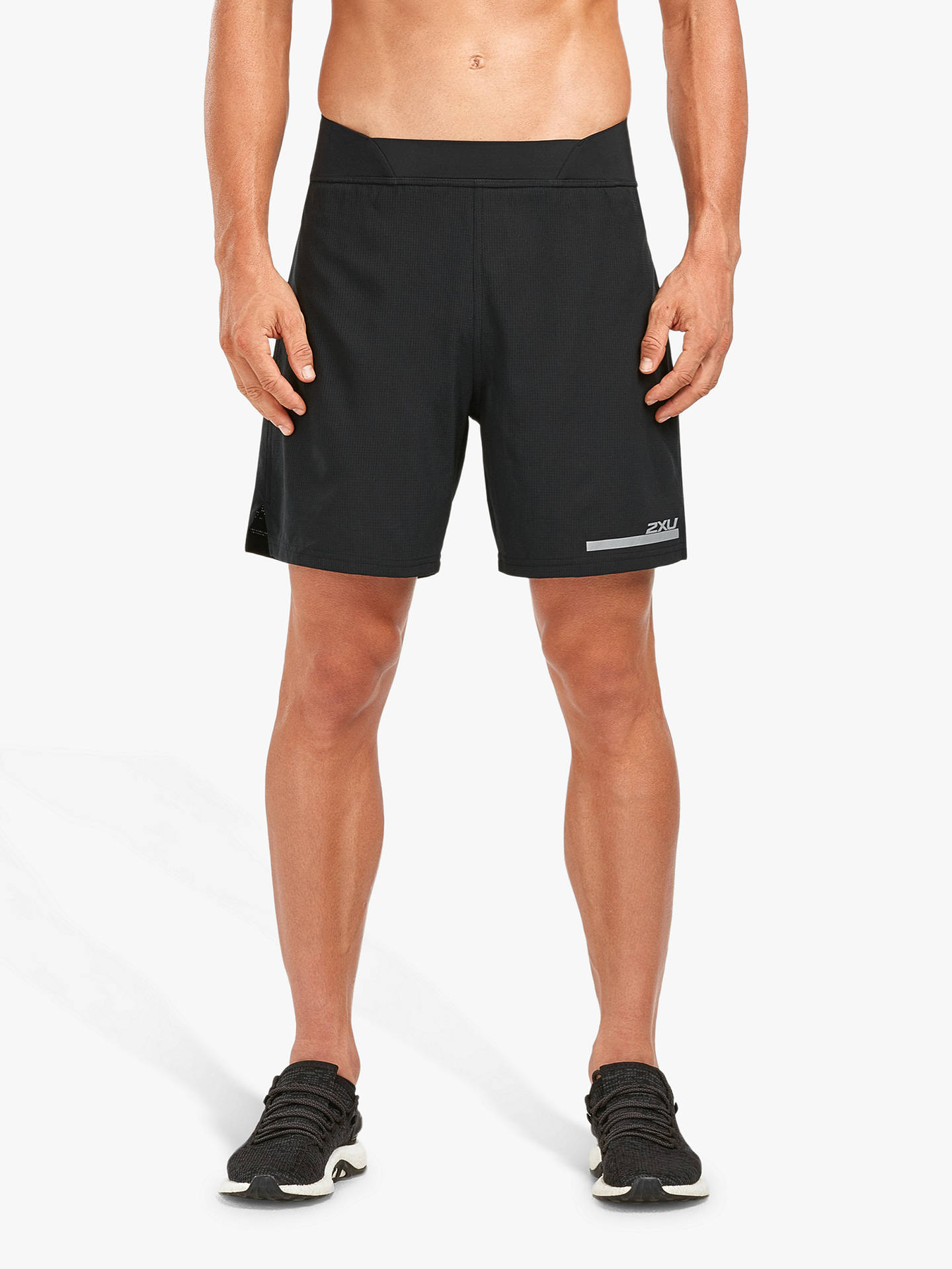 cfadb551c6c5f Buy 2XU Compression Double Layer 7 Inch Training Shorts, Black/Silver, S  Online ...