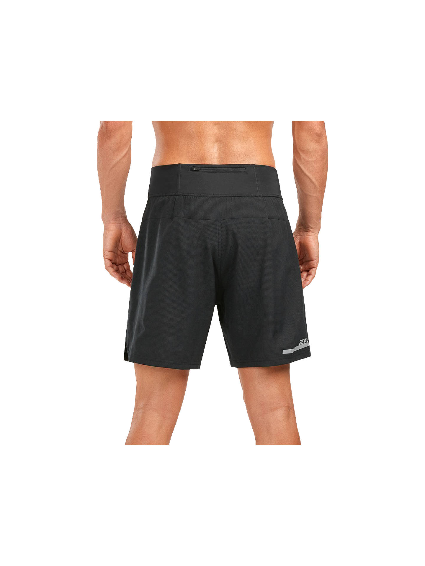 7478ea7a168fa ... Buy 2XU Compression Double Layer 7 Inch Training Shorts, Black/Silver,  S Online ...