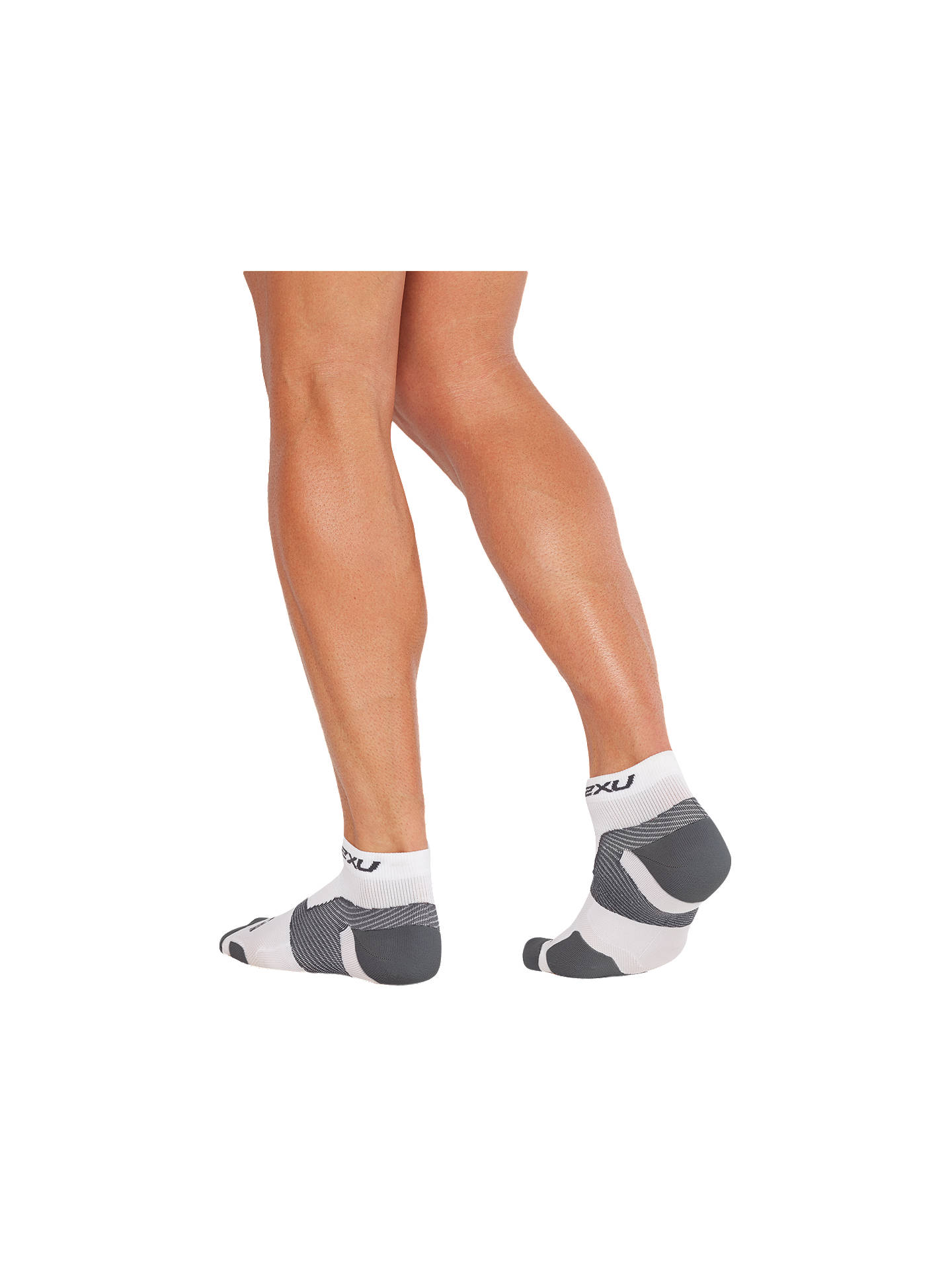 Buy 2XU Vectr 1/4 Compression Socks, White/Grey, S Online at johnlewis.com