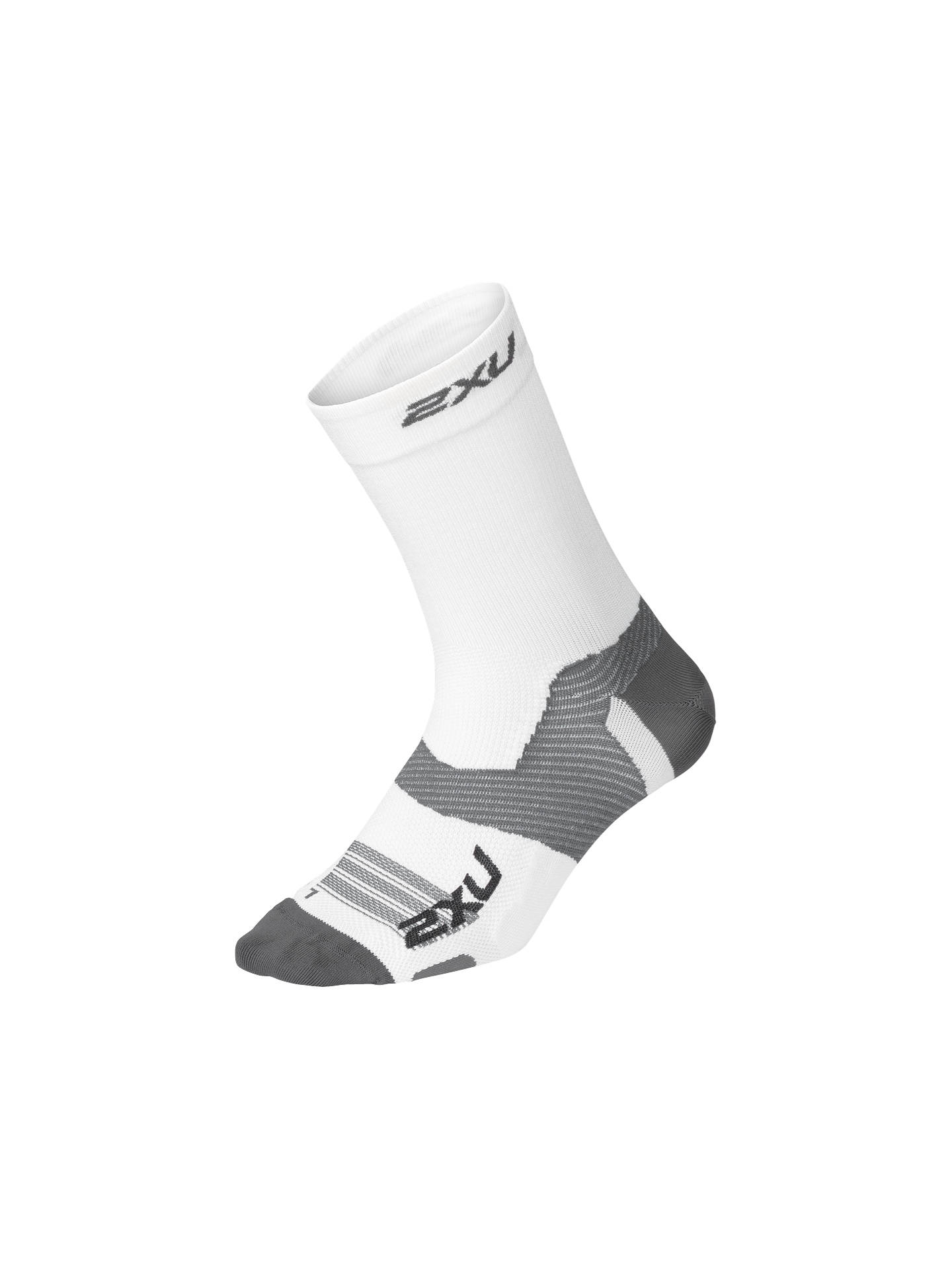 Buy2XU Vectr Compression Socks, White/Grey, S Online at johnlewis.com