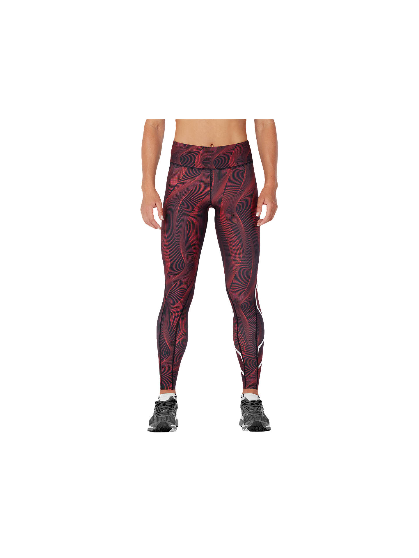 59ac486cf1 Buy 2XU Mid-Rise Print Compression Women's Tights, Tomato Vertical Curve,  XS Online ...