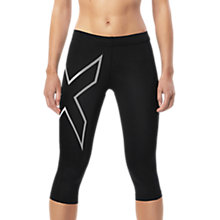 Buy 2XU Compression 3/4 Women's Tights, Black Online at johnlewis.com