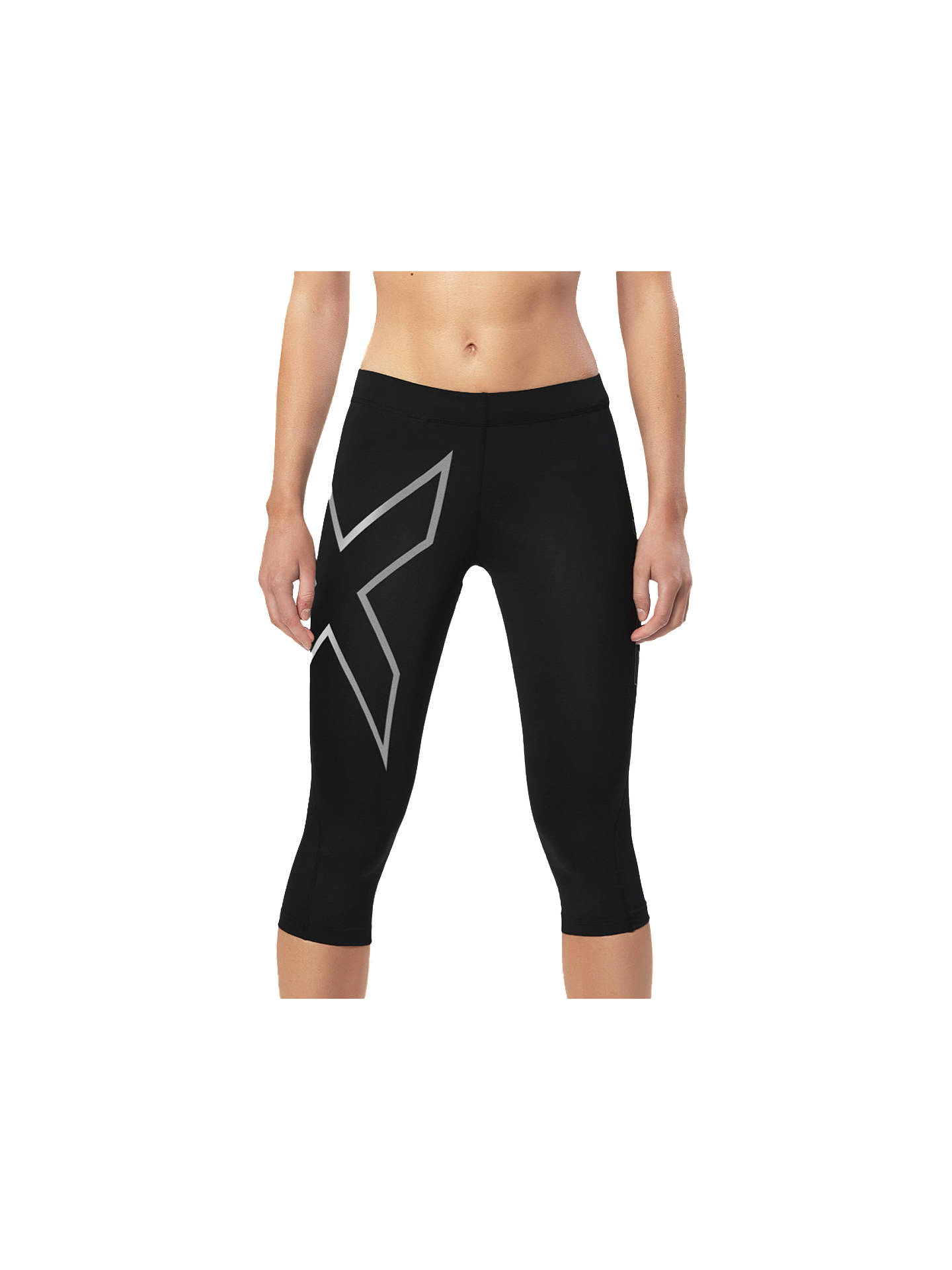Buy 2XU Compression 3/4 Training Tights, Black, XS Online at johnlewis.com
