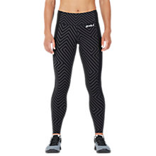 Buy 2XU Pattern Fitness Compression Tights, Black Phantom Maze/Aruba Blue Online at johnlewis.com