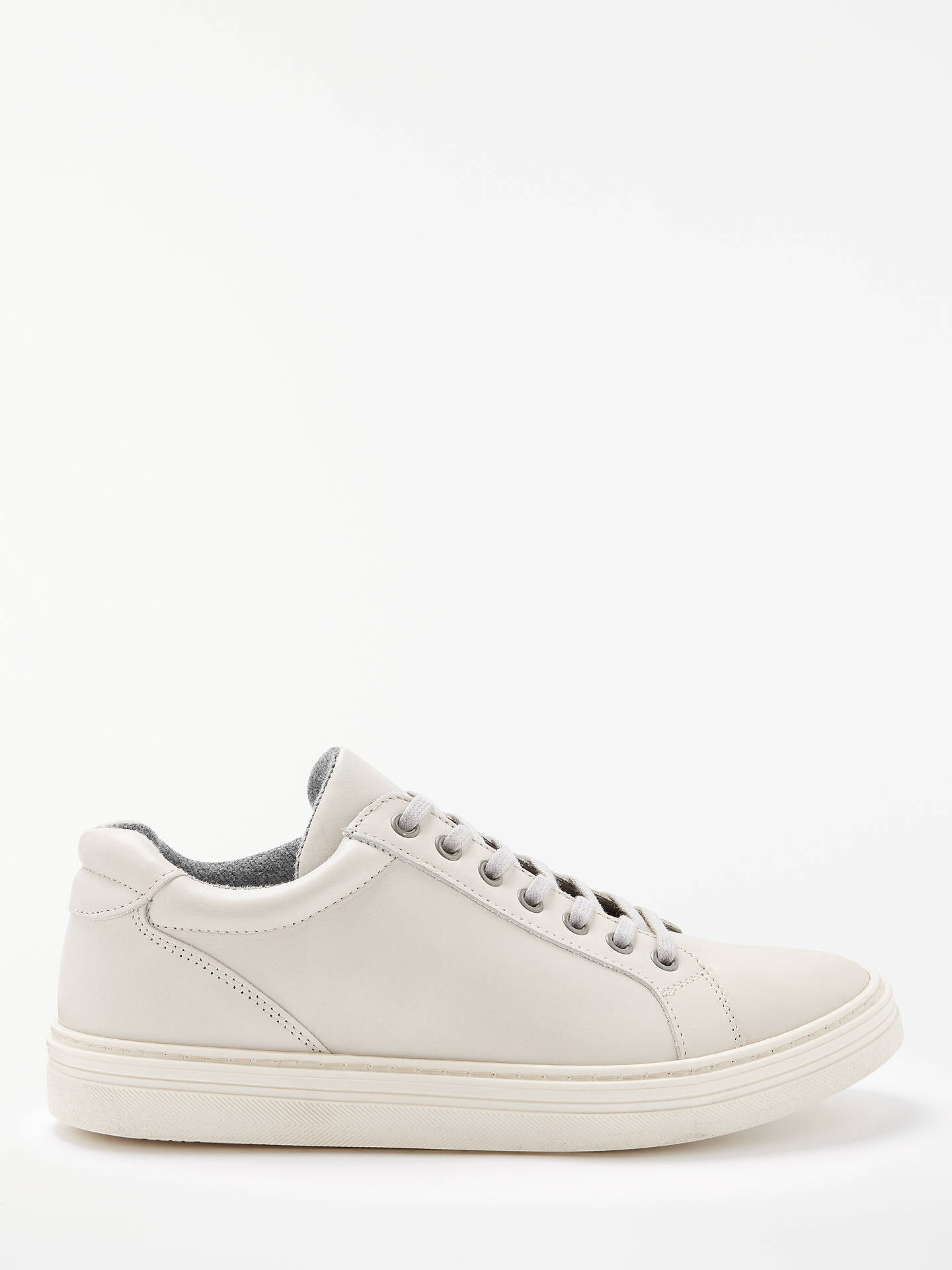 BuyJohn Lewis & Partners Clapton Leather Cupsole Trainers, Ecru, 7 Online at johnlewis.com