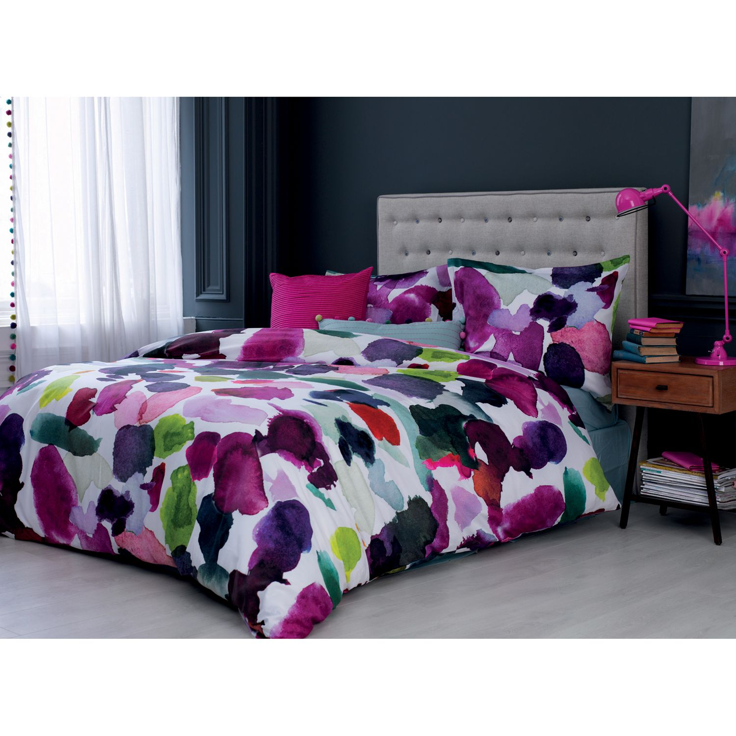 Bluebellgray Abstract Cotton Duvet Cover And Pillowcase Set At John Lewis Partners