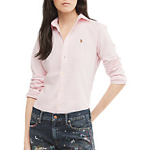 Buy Polo Ralph Lauren Kendall Fitted Shirt, Pink/White Online at johnlewis.com